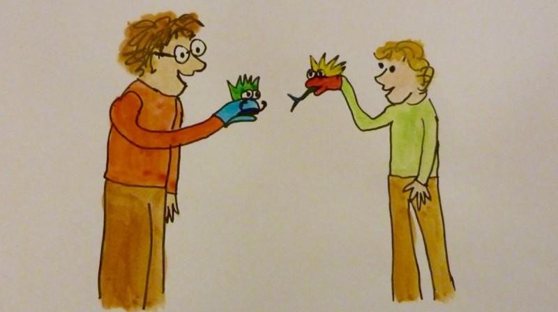 atelier parents enfants marionnettes chaussettes