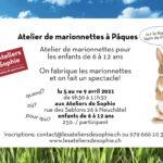 Atelier marionnettes enfants Pâques Neuchâtel
